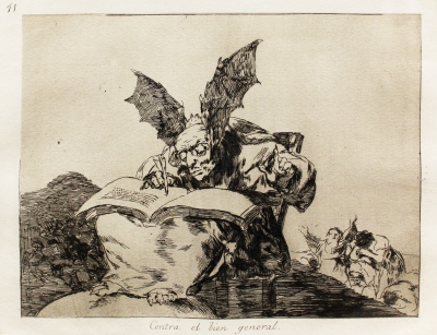 Francisco Jose de Goya Y Lucientes, Los Caprichos-Contra el Bien General #71, 1881-  1886, Etching a& Aquatint on Paper, MDC Permanent Art Collection