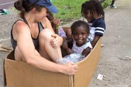 Leah Weston with Coconut Grove Neighborhood Kids