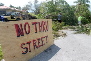 After Irma Street Clearing Coconut Grove