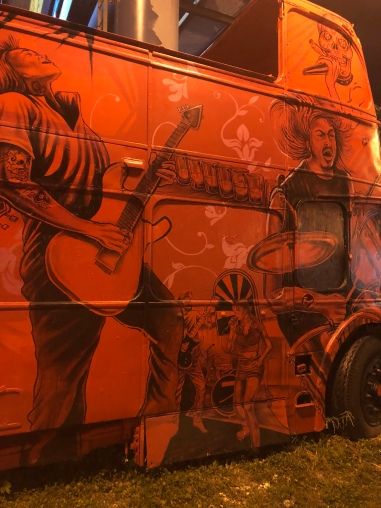 """Bus Mural by Kyle Holbrook and Kevin """"Smurf"""" Morris"""