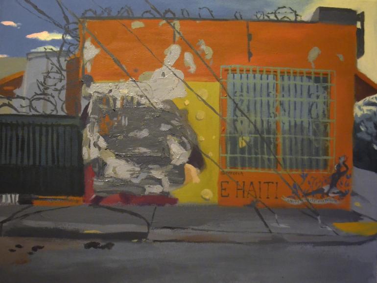 Arroyo 5825 NE 2nd Av. Miami FL 33137 Acrylic on Canvas 28x36 2017